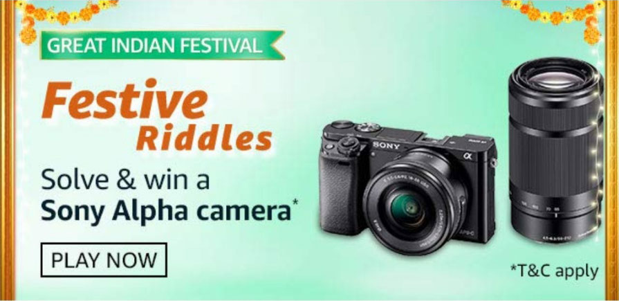 Amazon Festive Riddles Answers - Win Sony Alpha Camera