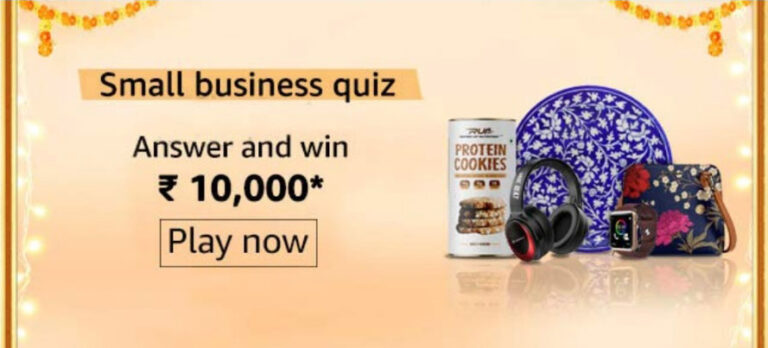 Amazon Small Business Quiz Answers - Get Reward Rs.10,000