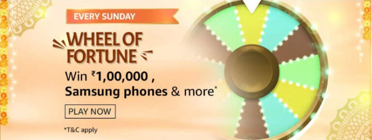 Wheel Of Fortune Win 1 Lakh - Amazon Spin And Win